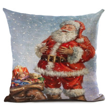 HOT SALE Christmas Pillow Cover Santa Claus Pattern Square Case Home ChristmasChina