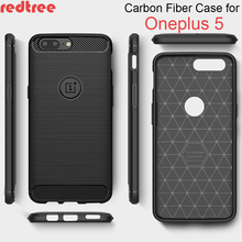 Oneplus 5 case Luxury Full Cover Protective Carbon Fiber Brushed Soft TPU Case for One plus 5 Free Shipping Shockproof Back Capa(China)