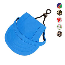 Pet Products Hat With Ear Holes Canvas Dog Sunscreen Casual Casquette Baseball Cap Hiking Pets Products Dogs Accessories(China)