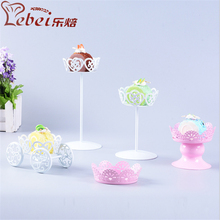 Creative Iron Cake Stands Pumpkin Car Flower Cup Wedding Cake Tools Dessert Stands Party Birthday Christmas Decorations(China)