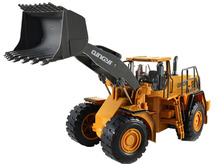 RC Bulldozer Truck 2.4G Wheeled Loading Shovel Large Remote Controlled Truck  USB Charging Toy For Kids Birthday Gift