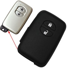Black Silicone Case Cover Fit For Toyota Camry Highlander Prado Remote Smart Key 2 Buttons