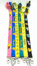 1 PCS Pokemon Pikachu key lanyards id badge holder keychain straps for mobile phone Free Shipping