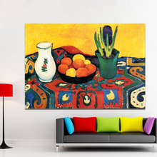 HDARTISAN Still Life Canvas Art Wall Pictures For Living Room August Macke Modern Hyacinths Carpet Painting Flowers Home Decor(China)
