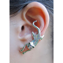 Vintage Cat Whisperer Ear Cuff Silver Copper Color Cat Clips on Earring for Women Anmal Design Earrings Jewelry
