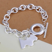 H276 silver fashion jewelry 925 jewelry silver plated bracelet Dog tags TO bracelet /NZLEGKEU KBRAQWUW