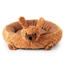 2017 Hot Sale Soft Rose Velvet Puppy Round Nest Autumn And Winter Warm Cat Litter Dog Cushions 55x14cm(China)