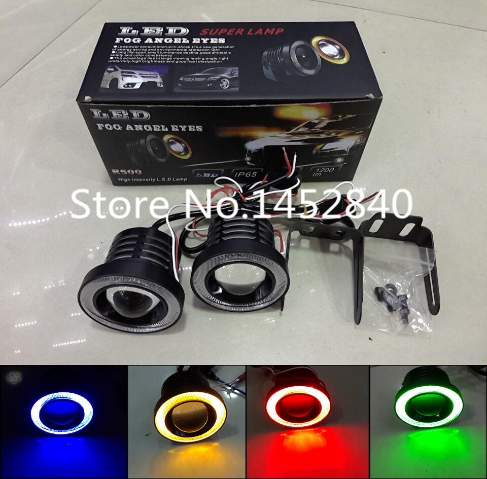 2Pcs/Set 12V 30W 64mm 76mm 89mm Universal Super Bright Car LED COB Fog Angel Eyes Spot Light Head Lamp 2 Color For Option<br><br>Aliexpress