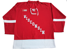 University of Wisconsin Madison Custom your name and number Stitched Hockey Jersey or Blank Jersey