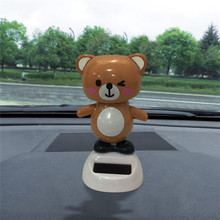 CARPRIE Hot 1PC Car Inner Decor Toy Cute Bear Solar Powered Dancing Swinging Animated Dancer Toy High Quality Car Deco Toys(China)