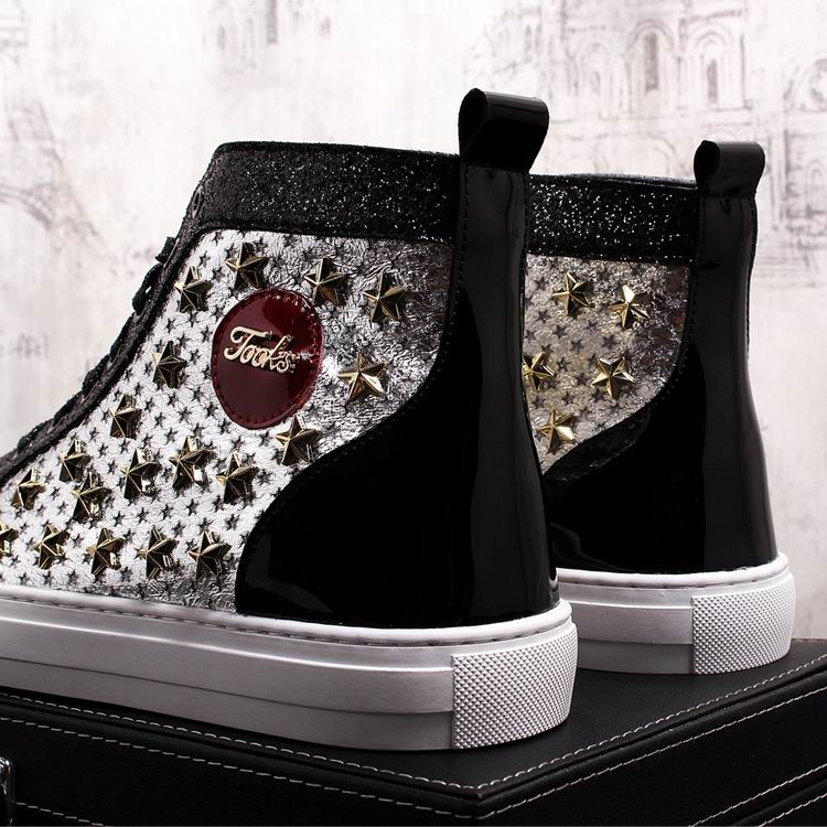 ERRFC Personalized Fashion Men High Top Casual Shoes Luxury Star Rivets Charm Mixed Colors Ankle Boots Man Trending Leisure Shoe 16 Online shopping Bangladesh