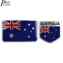 Car Sticker Emblem For Australia Australian Flag Logo Aluminum Alloy Badge Decal For Audi BMW Lexus Mazda Jeep Holden Hyundai VW