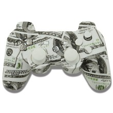 Custom Hydro Dipped $100 Money Full Housing shell and buttons for sony playstation3 PS3 Controller Shell mod kit for dualshock 3