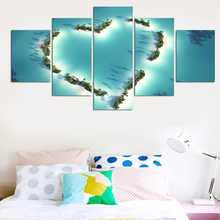 5 Pcs Love Design Posters Painting On The Wall Modern Home Wedding Decor Canvas Picture Art Print Painting On Canvas (No Frame)(China)