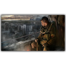 Living Room Home Wall Decoration Silk Fabric Poster S.T.A.L.K.E.R. 2 Call of Pripyat Radioactive Video Games YX1212