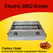 Homemade chicken stainless steel smokeless electric bbq grill