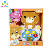 Children Learning Machine Cartoon Bear Music Piano Laptop Toy with Light Sounds Gifts for Kids