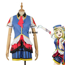 Love Live Sunshine Aqours Happy Party Train Nyamazing Ohara Mari Uniform Dress Coat Shirt Outfit Anime Cosplay Costumes