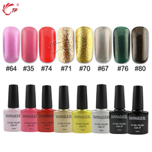 Dannail Gel 10ml Shimmer Glitter Gel Nail Varnishes Soak off Sparkle Sequins Nail Gel Glue Led Lamp Nail Panit(China)