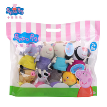 Original 8Pcs/set Peppa George Pig Friends Suzy Sheep Stuffed Plush Toys Cartoon Pigs New Year Birthday Gifts For Kids Girls(China)