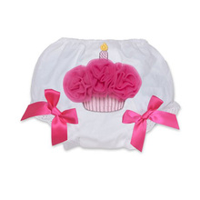 Princess Girl Shorts Cotton Baby Bloomers Red Diaper Cover Tutu Ruffled Panties Birthday Cake Shorts Infant Baby Girl Bloomers(China)