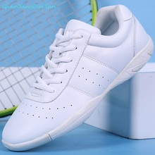 New style kids' sneakers children's white Modern/Jazz/Hip-hop dance shoes competitive aerobics shoes soft sole fitness gym shoes(China)