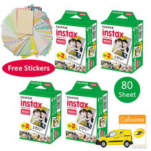 80 Sheets Fujifilms Instax Mini 8 White Film for Fujifilm Instant Mini 7s 25 50s 90 Fuji Photo Paper Camera + Free Stickers