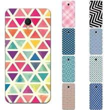 "For Meizu MX6 Phone Case for Meizu MX6 5.5"" Shell Transparent Ultra Thin Back Cover Silicon Square Diamond Pattern Capa Gel"