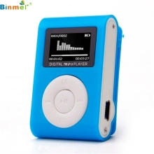 Binmer Best Price ! USB Clip Mini MP3 Player Usb LCD Screen Support 32GB Micro SD TF Card top quality hot NEW JAN5