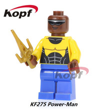 Michael Jackson Luke Cage Power Man Power-Man Powerman Spiderman From 76016 Super Heroes Building Blocks Kids Gift Toys KF275