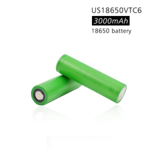 2pcs 100% VTC6 18650 battery US18650VTC6 3000mAh 3.7v 30A high drain lithium 18650 rechargeable batteries for Sony e-cigarette