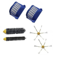 2016 New AeroVac Filter,Side Brush,Bristle and Flexible Beater Brush Combo for iRobot Roomba 600 610 620 625 630 650 660