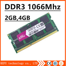 sale ddr3 ram 2gb 4gb 8gb 1066Mhz pc3-8500 so-dimm laptop, memory ddr3 1066mhz 4gb pc3 8500 sdram notebook, ddr3 1066 4gb 4g(China)