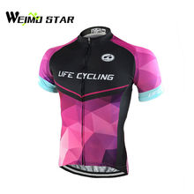 WEIMOSTAR 2017 Men's Ropa Ciclismo Outdoor Team Bike Bicycle Short Sleeve Jersey Coolmax Cycling Shirts Tops S-4XL