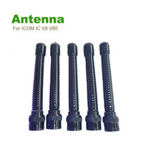5PCS VHF 136-174mhz BNC Rubber Antenna For ICOM IC V8 V80 V80E V82 V85 V85E F3S VX200 VX500,For TK208 Etc Walkie Talkie