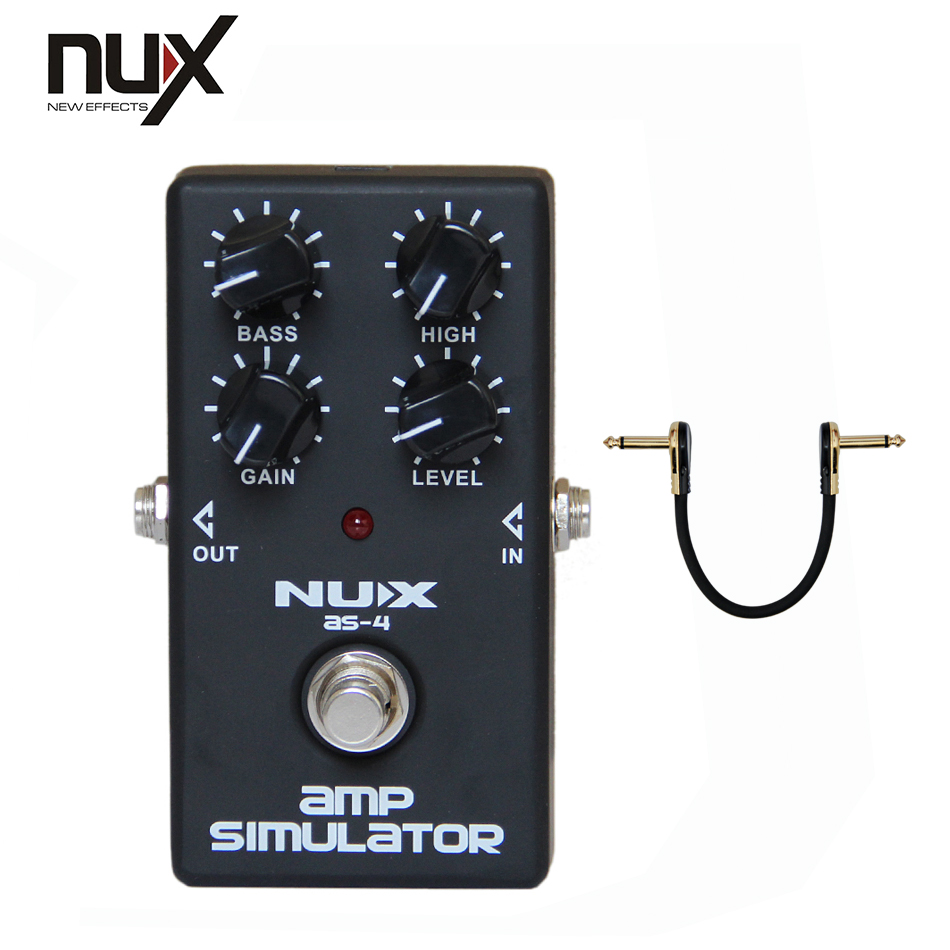 NUX AS-4 Modern Amplifier Simulator Guitar Effects Pedal<br>