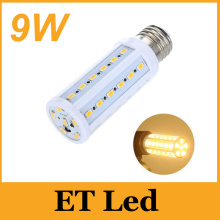 E27 E26 E14 B22 Led 9W SMD bulb corn lights high bright 800 lumens warm/cool white 42pcs 5630 SMD Led lights 110V 220V(China)