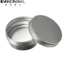 Empty Aluminum Cream Jar Tin Cosmetic Lip Balm Containers Nail Derocation Crafts Pot Bottle Screw Thread 15ml/50ml/100ml/150ml(China)