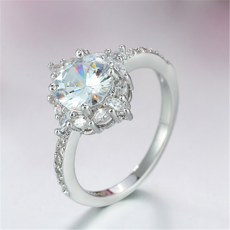 Limited edition Wedding ring Special moment for her Best gift Simple Top quality Silver Ring Engagement anel feminino 3