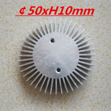 2pcs/lot LED heatsink ,Diameter :50mm  H:10mm,aluminum heat sink , LED cooler  ,LED radiator