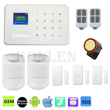 G18 Touch Alarm System Gsm Home Security Wireless 99 Zone Siren Alarm Android IOS App Control Remotly
