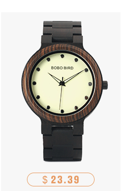 CnwinTech Bamboo Wood Watches Men Casual Clock - BOBO BIRD 13