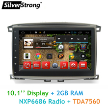 SilverStrong 2GB RAM Android 10inch Car Radio For Land Cruiser 100 LC100 Android GPS Redpower land cruiser 4500,4700