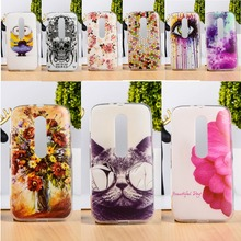 DIY Painted Soft TPU & Hard Plastic Phone Case For Motorola Moto G3 XT1542 XT1543 Cell Phone Cover Anti-Knock Function Phone Bag