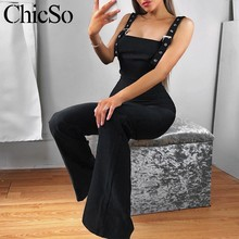 ad71af33160 MissyChilli Black sleeveless jumpsuits rompers Women wide leg casual sexy  jumpsuit summer high waist party long playsuit female