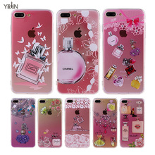 "Luxury Perfume Bottle Design Glitter Diamond Cell Phone Case For iphone 7 4.7"" iphone 7plus Soft Silicone Girl Phone Cover Coque"