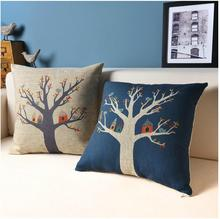 The bird a tree house Cartoon Animation lovely cushion  Cotton Pillow Cushion Pillow  home decorate sofa Cushions