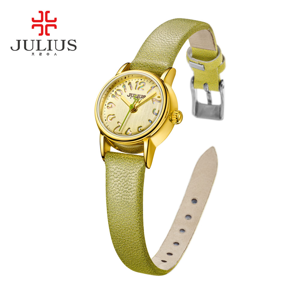 Ladies Watches Top Brand Luxury JULIUS Simple Leather Small Alloy Relogio Feminino Clock with Box Fashion Erkek Saat Quartz<br>