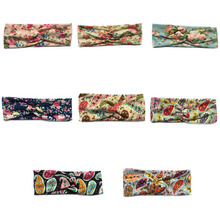 Mother Headband Lovely Girl Twisted Headband Floral BowKnot Hairband Turban Head Wrap Hair Band Accessories