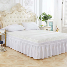 Bed Skirt Bedding White-Decor Ruffle Modern Dust Solid Ouneed for Dropship May13 Split-Corners
